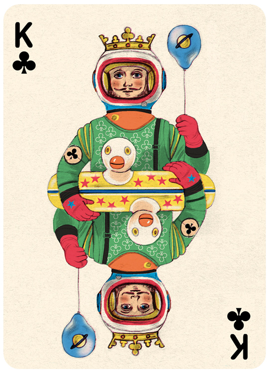 King Clubs Playing Card Illustration by Jonathan Burton