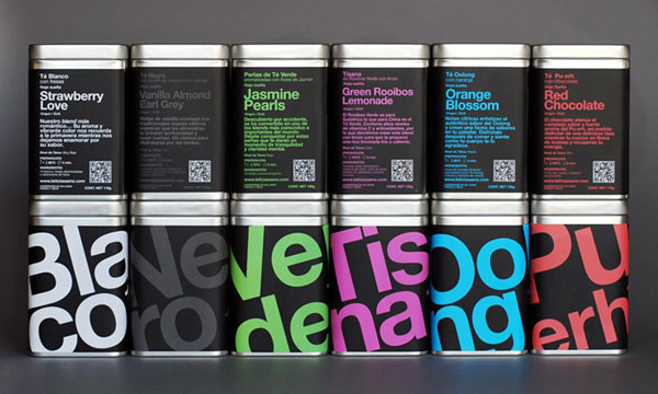 Leticia Sáenz Tea Sommelier packaging designed by LeoLab