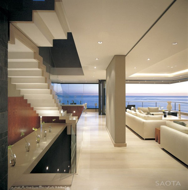Modern Interior of the St Leon 10 in Bantry Bay, Cape Town by SAOTA and Antoni Associates