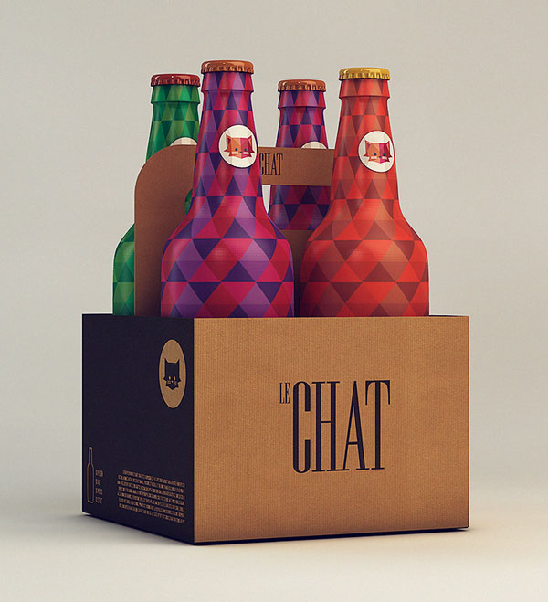 Packaging Design for Le Chat by Isabela Rodrigues Sweety Branding Studio