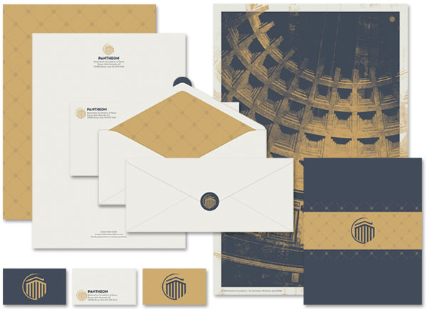 Pantheon Proposed Stationery System by Seth Lunsford