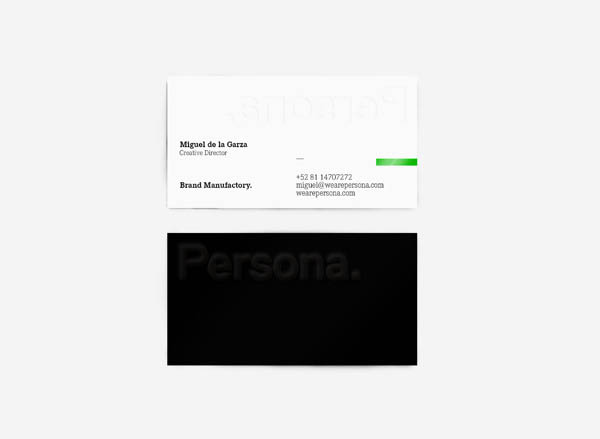 Persona. Business Cards