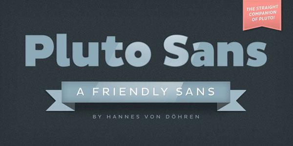 Pluto Sans by Hannes von Döhren