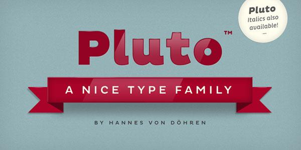 Pluto Type Family by Hannes von Döhren