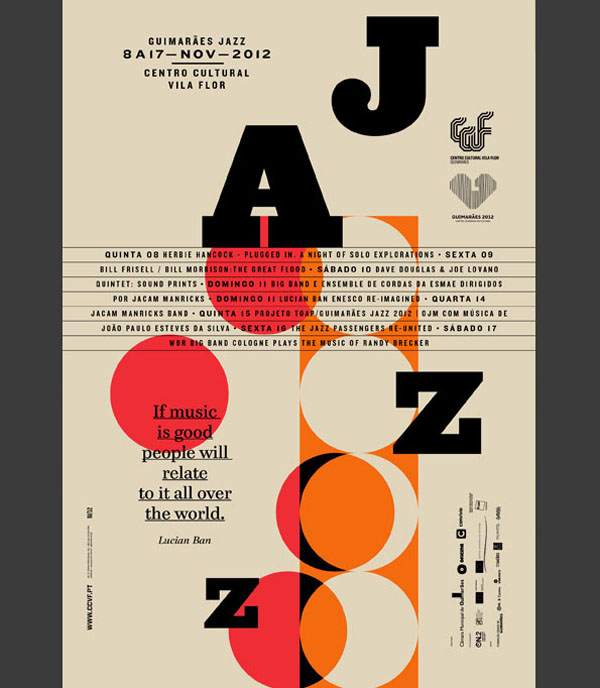 Editorial Design for Guimarães jazz Edition 2012 by Atelier Martino&Jaña