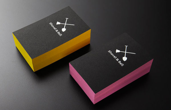 Shovel and Bell gelateria and cafe Business Cards by Manic Design