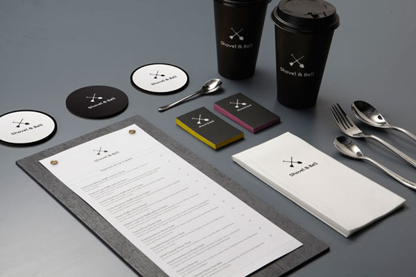 Shovel and Bell gelateria and cafe corporate identity by Manic Design