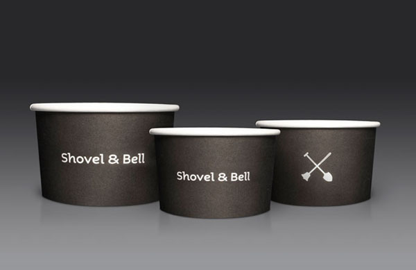Shovel and Bell gelateria and cafe cups by Manic Design