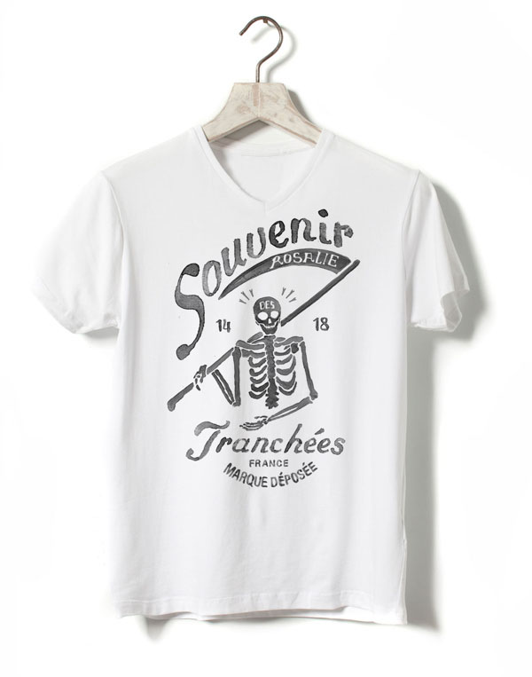 Skeleton T-Shirt Illustration for FILS DE FER - Souvenir 14 18
