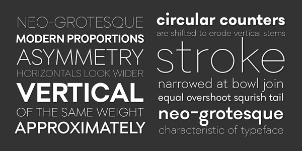 Soin Sans Pro - Typefaces and Weights