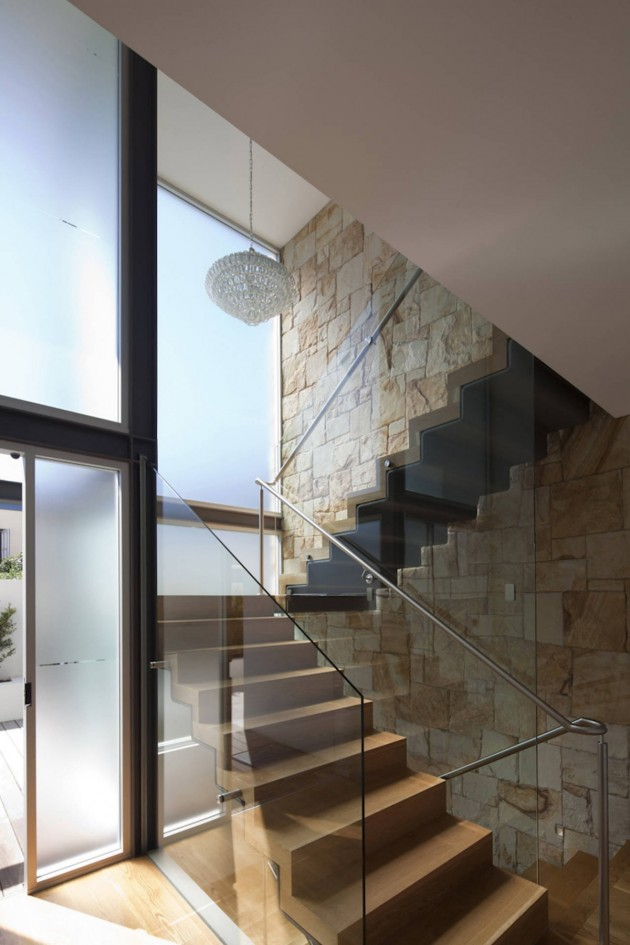 Staircase of the Vaucluse House in Sydney, Australia by MPR Design Group