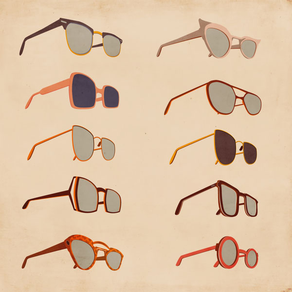 Sunglasses Illustrations by Giordano Poloni for Infographics