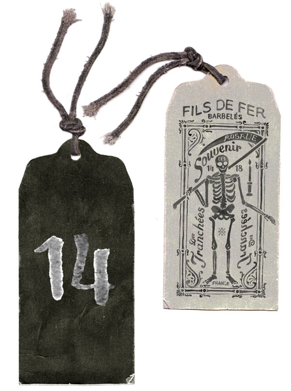 Tag Design for FILS DE FER - Souvenir 14 18