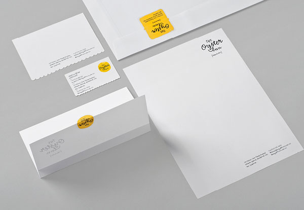 The Oyster Inn - Stationery Design by Special Group