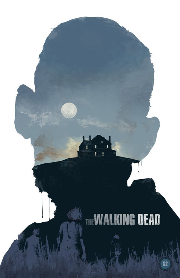 the walking dead zombie movie poster design by michael. Black Bedroom Furniture Sets. Home Design Ideas