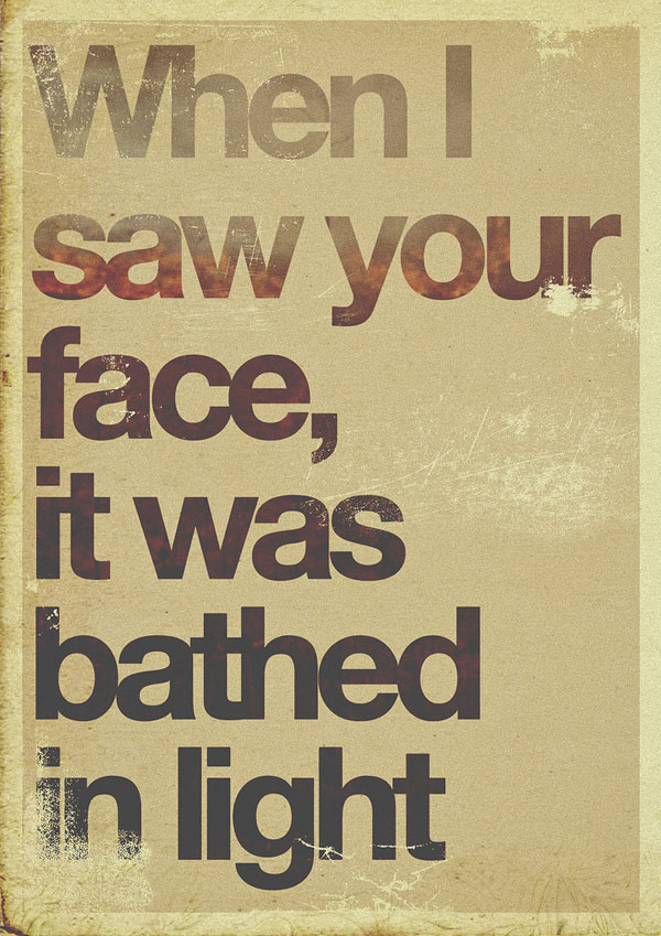 Typographic Poster Design by Garrett DeRossett