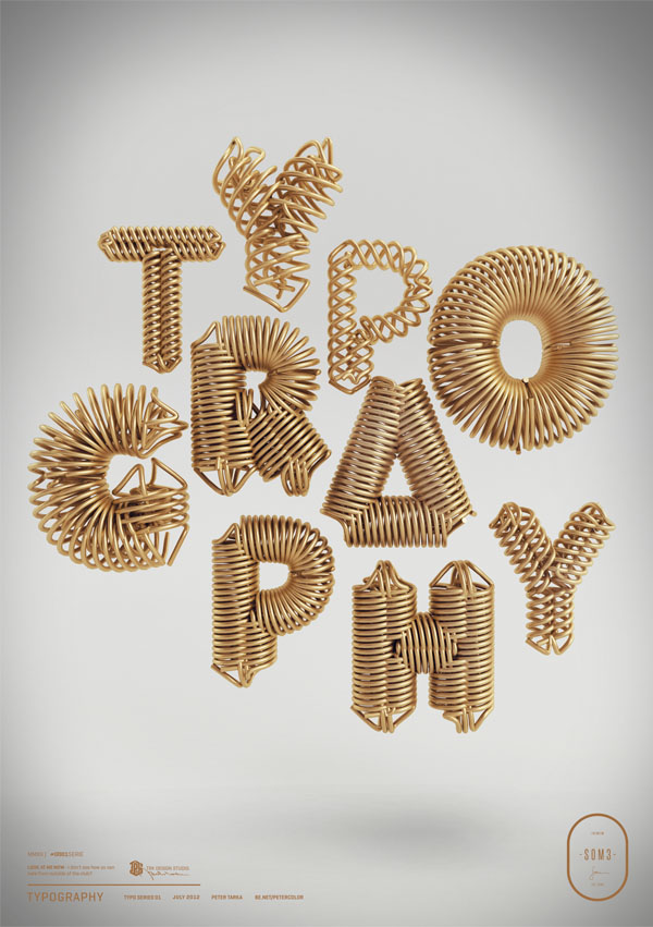 Typography - 3D Digital Artwork by Peter Tarka