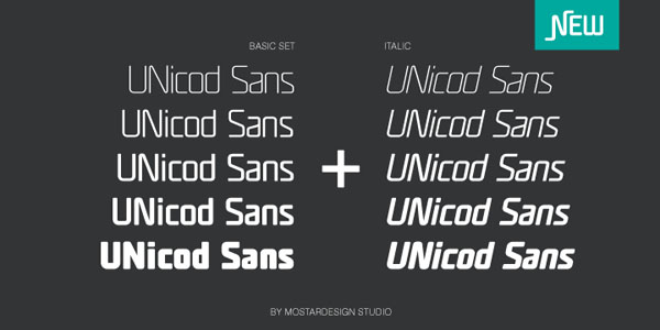 UNicod Sans - Basic Set and Italics