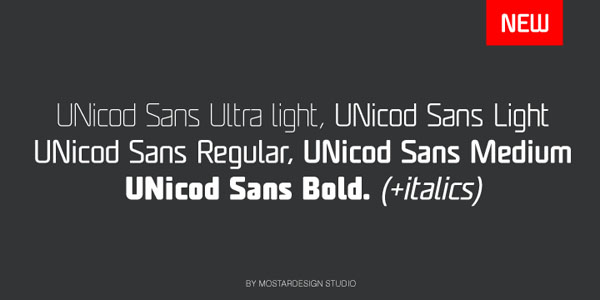 UNicod Sans - Different Weights
