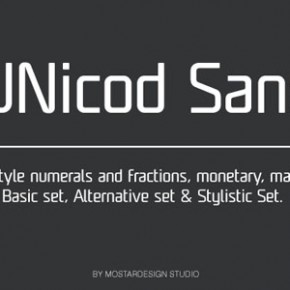 UNicod Sans - A Font by Mostardesign Studio
