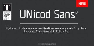UNicod Sans - Modern Typeface - Font Design by Mostardesign Studio