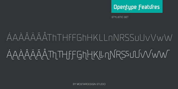 UNicod Sans Opentype Features - Stylisitc Set - Font Design by Mostardesign Studio