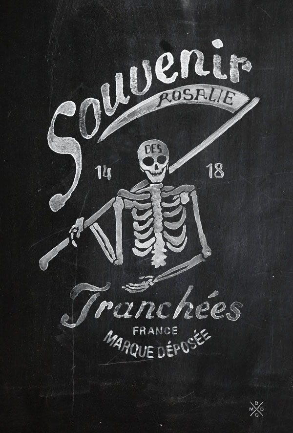 Watercolor Skeleton Brand Illustration for FILS DE FER - Souvenir 14 18