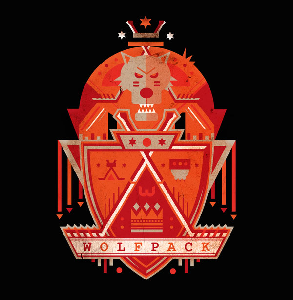 Wolfpack Illustration by Petros Afshar