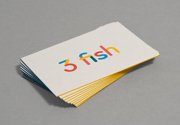 3 fish in a tree - Business Card Design