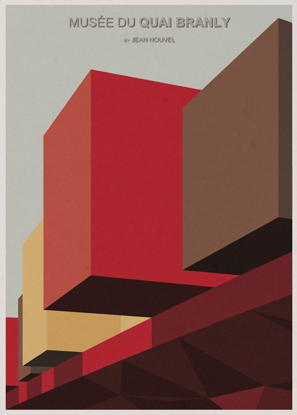 ARCHITECTURE - France - Musée du Quai Branly - Graphic Poster Design by André Chiote