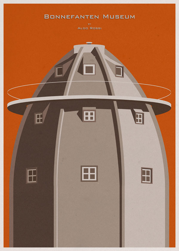 ARCHITECTURE - Holland - Bonnefanten Museum - Poster Illustration by André Chiote