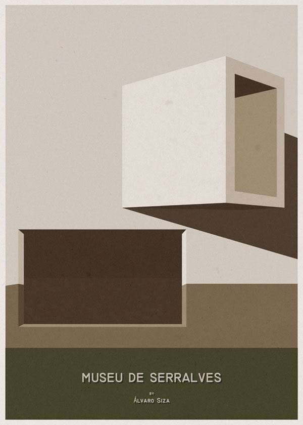 ARCHITECTURE - Portugal - Museu de Serralves - Poster Design by André Chiote