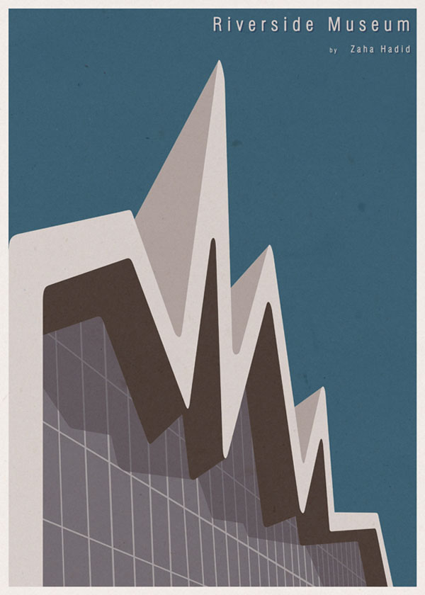 ARCHITECTURE - UK - Riverside Museum - Poster Design by André Chiote
