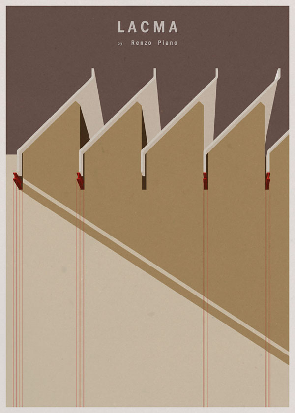 ARCHITECTURE - USA - LACMA - Poster Design by André Chiote