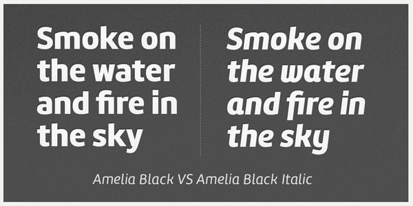Amelia Black and Amelia Blick Italic