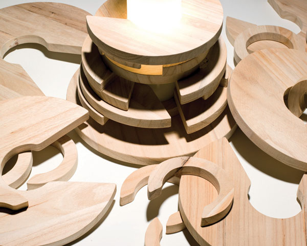 Babele puzzle lamp by design studio MID - manifattura italiana design
