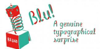 Blu - multilayered ribbon font