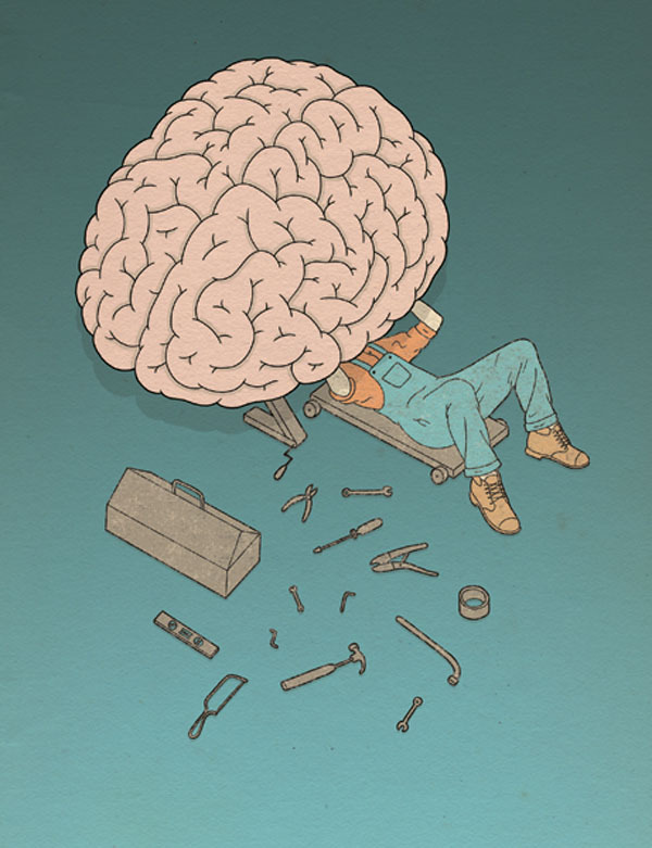 Brain Mechanic - Illustration by Robbie Porter