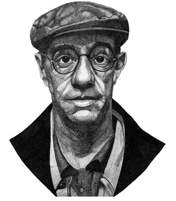 Derek Jarman - Drawing by Jacob Everett