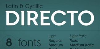 Directo - Latib and Cyrillic Typeface by Green Type