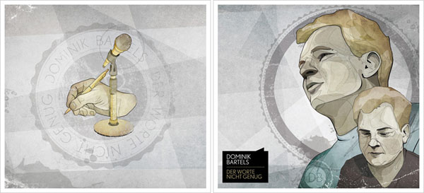 Dominik Bartels - Der Worte nicht genug - Cover Artwork by ARO Christian Schupp - Detail
