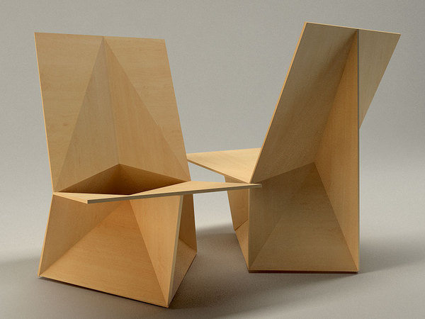 Edged Chair Design by Velichko Velikov