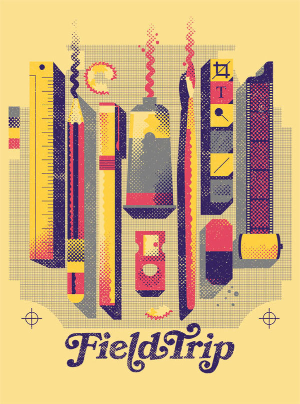 Field Trip Sydney 2012 - Poster Illustration by WBYK