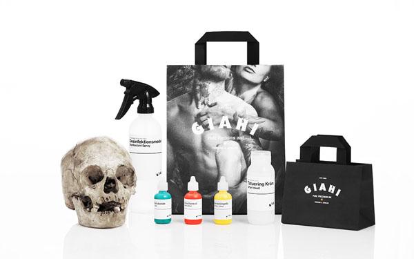 Giahi – Tattoo and Piercing Studio Identity by Anagrama