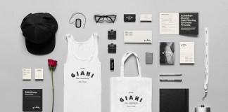Giahi tattoo and piercing studio - identity design by Anagrama