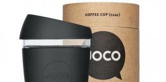 Joco glass coffee cup packaging by Jimmy Gleeson