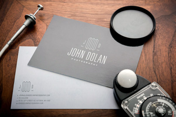 John Dolan Photography Business Card Design by Bluerock Design