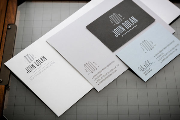 John Dolan Photography Stationery Design by Bluerock Design