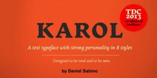 Karol - Serif Text Typeface by Daniel Sabino