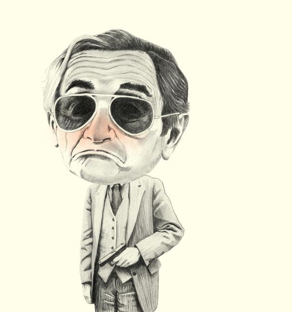 Mafioso Illustration by Helena Frank